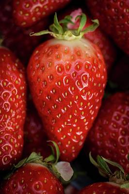 Strawberry Photograph - Gariguette Strawberries by Aberration Films Ltd