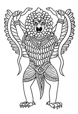 Garuda, The Vahana Of Lord Vishnu Art Print by Photo Researchers