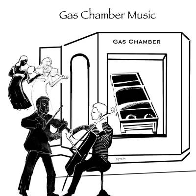 Painting - Gas Chamber Music 2 by Suzanne Cerny