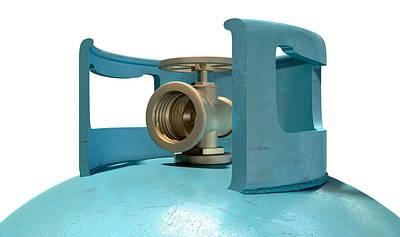 Faucet Digital Art - Gas Cylinder Valve Closeup by Allan Swart
