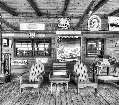 Vintage Gas Station Photograph - Gas Station On Route 66 by Twenty Two North Photography
