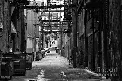 Photograph - Sitting In The Gastown Alley by John Rizzuto