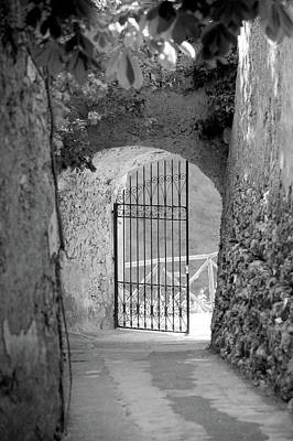 Ravello Photograph - Gate Of A Villa, Ravello, Salerno by Panoramic Images
