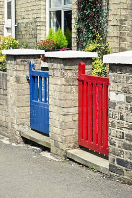 Painted Garden Gate Photograph - Gates by Tom Gowanlock