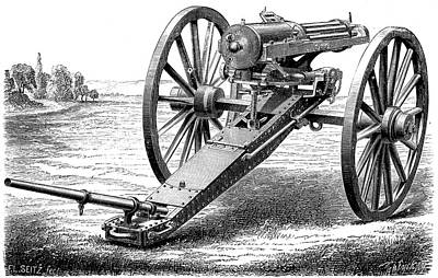 Gatling Rapid Fire Gun Art Print