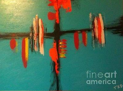 Painting - Gaze Over The Waterway by Theresa Kennedy DuPay