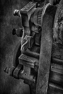 Photograph - Gears And Pulley by Susan Candelario