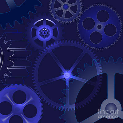Machine Part Digital Art - Gears by Michal Boubin