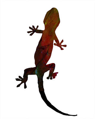 Gecko Art Print by Celestial Images