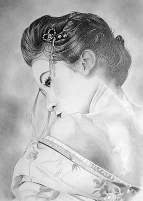 Melanie Spencer Drawing - Geisha  by Melanie Spencer