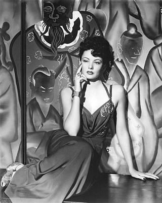 Gene Tierney Art Print by Silver Screen