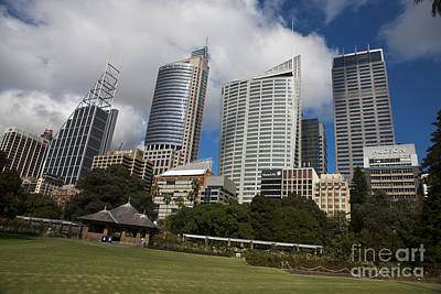 Keith Richards - General view of office buildings from The Royal Botanic Gardens Sydney by Jason O Watson