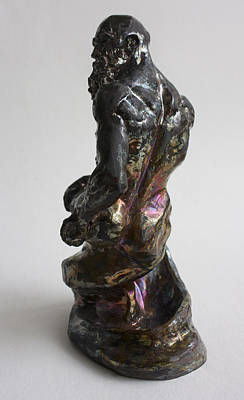 Raku Sculpture - Genie by Derrick Higgins