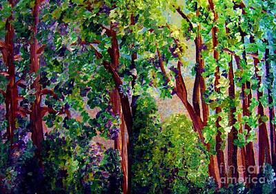 Forest Painting - Gentle Breeze  by Eloise Schneider