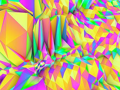Vertex Photograph - Geometric Abstract Polygonal Background by Pasieka