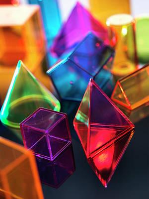 Bright Colours Photograph - Geometric Shapes by Tek Image