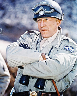 Movies Photograph - George C. Scott In Patton  by Silver Screen