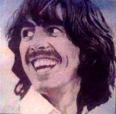 Weep Drawing - George Harrison by Hunter Pope