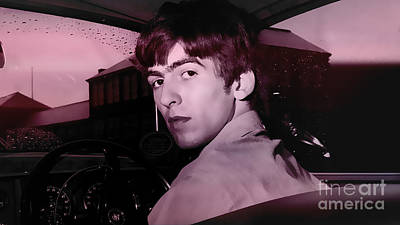 Beatles Mixed Media - George Harrison by Marvin Blaine