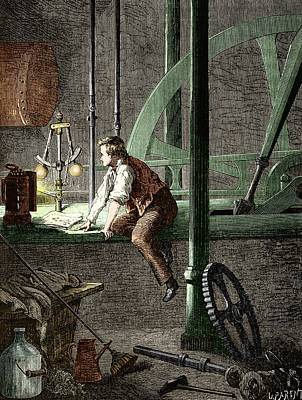 George Stephenson � The Early Years Art Print by Sheila Terry