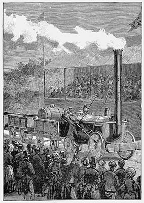 George Stephenson's 'rocket' Art Print by Universal History Archive/uig