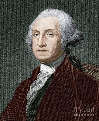 George Washington, First Us President Art Print by Sheila Terry
