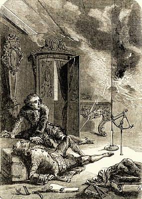 George Wilhelm Richmann Art Print by Universal History Archive/uig