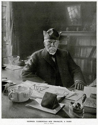Georges Clemenceau  French Statesman Art Print by Mary Evans Picture Library