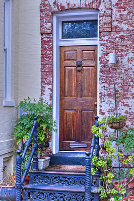 Photograph - Georgetown Washington D.c. Doorway by David Zanzinger