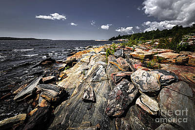 Georgian Bay Photograph - Georgian Bay Shore by Elena Elisseeva