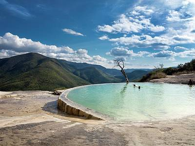Ledge Photograph - Geothermal Pool by Daniel Sambraus