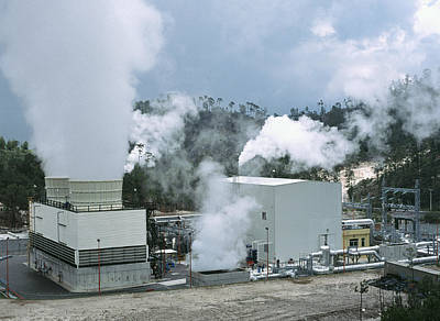 Steam Turbine Wall Art - Photograph - Geothermal Power Plant In Mexico by Theodore Clutter