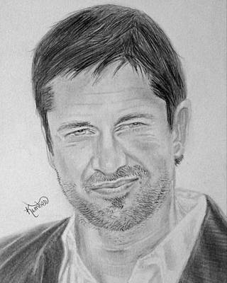 Drawing - Gerard Butler by Kimber  Butler