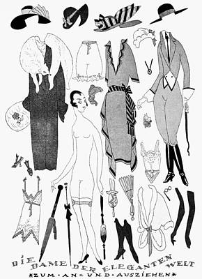 Horse Necklace Drawing - German Fashion, 1921 by Granger