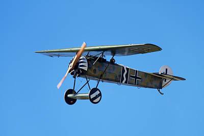 Monoplane Photograph - German Wwi Fokker D-8 Fighter Plane by David Wall