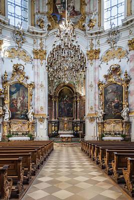 Bayern Photograph - Germany, Bavaria, Ettal, Kloster Ettal by Walter Bibikow