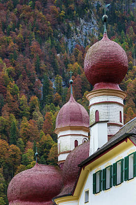 Bayern Photograph - Germany, Bavaria, Konigsee, St by Walter Bibikow