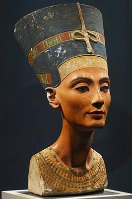 Statue Portrait Photograph - Germany. Berlin. Nefertiti Bust by Everett