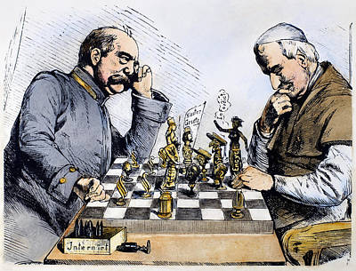 Chess Pieces Painting - Germany Kulturkampf, 1875 by Granger