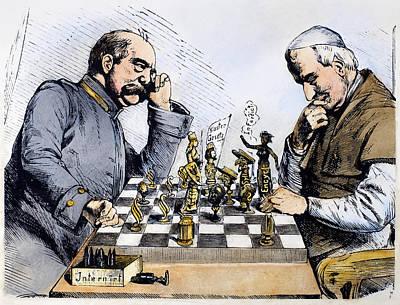 Chess Men Painting - Germany Kulturkampf, 1875 by Granger