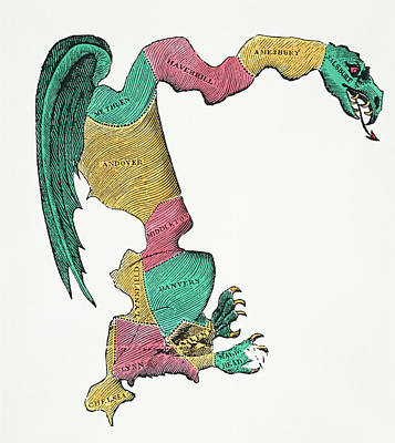 Republican Party Painting - Gerrymander Cartoon, 1812 by Granger