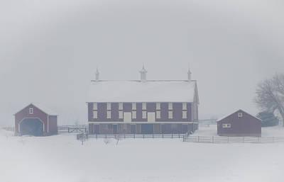 Gettysburg Farm In Winter Art Print by Bill Cannon