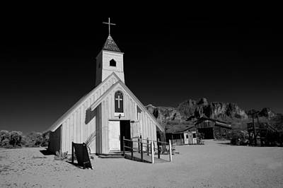 Ghost Town Church Art Print by Wendell Thompson