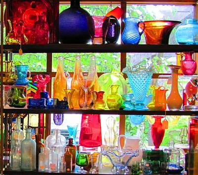 Gifts Of Glass Art Print by Jeanne Porter
