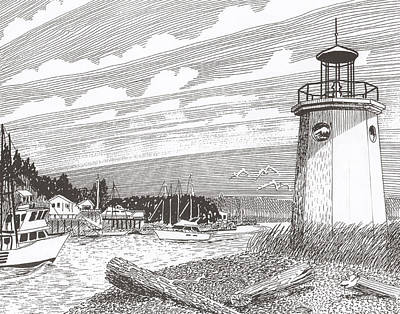 Lighthouse Gig Harbor Entrance Original