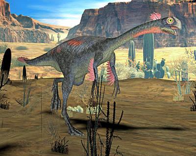 Paleozoology Photograph - Gigantoraptor Dinosaur by Friedrich Saurer