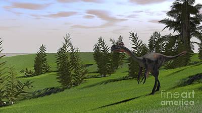 Photograph - Gigantoraptor In A Grassy Field by Kostyantyn Ivanyshen