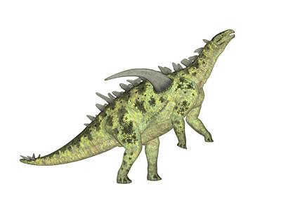 Paleozoology Photograph - Gigantspinosaurus Dinosaur by Friedrich Saurer
