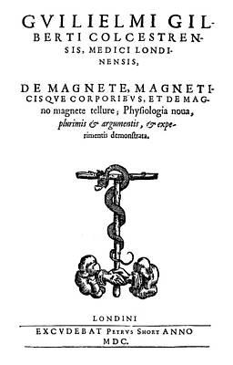 Painting - Gilbert De Magnete, 1600 by Granger