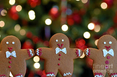 Bread Line Photograph - Gingerbread Men In A Line by Amy Cicconi